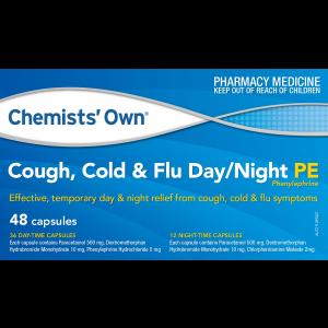 COUGH COLD & FLU DAY PE CAP 48