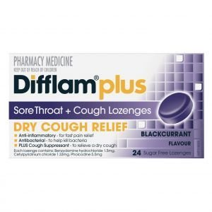 DIFFLAM BLKCUR LOZ +COUGH S/F 24