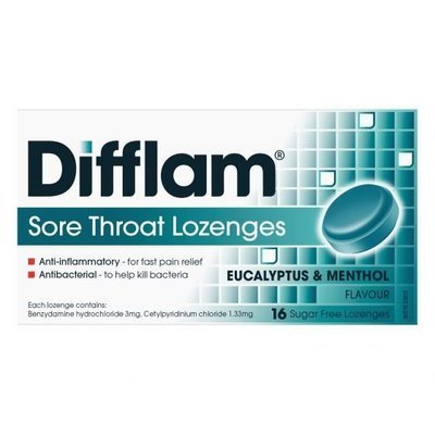 DIFFLAM LOZ 16 EUCAL/MENTH S/F