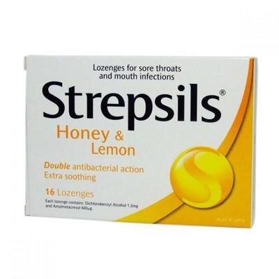 STREPSILS LOZENGE 16 HONEY/LEMON