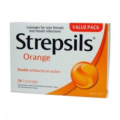 STREPSILS LOZENGES ORANGE 36 Pack