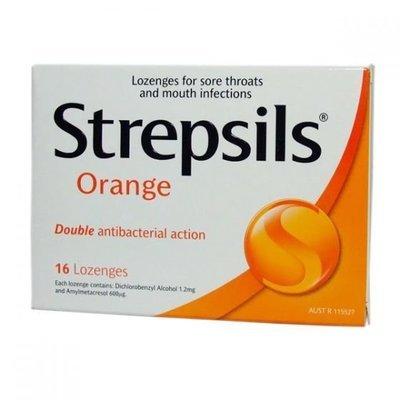 STREPSILS LOZENGE  ORANGE 16