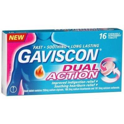 GAVISCON DUAL ACTION 16 TABS
