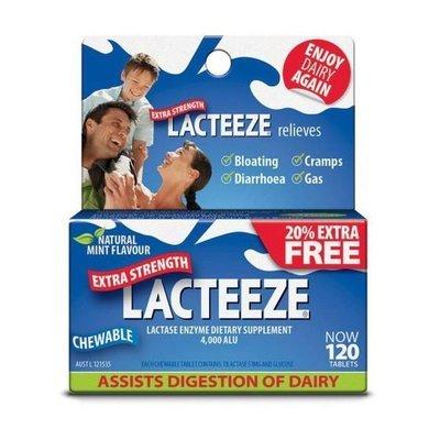 LACTEEZE EXTRA STRENGTH 120 TABS