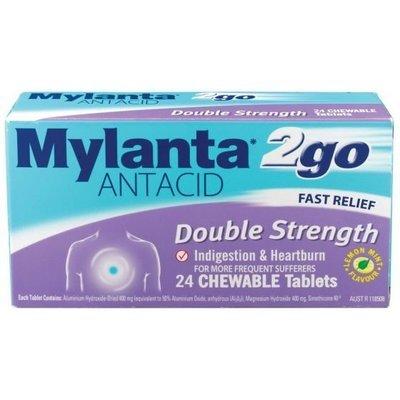 MYLANTA 2 GO DOUBLE STRENGTH 24 TABS