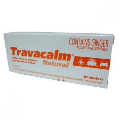 TRAVACALM NATURAL 10 TABS