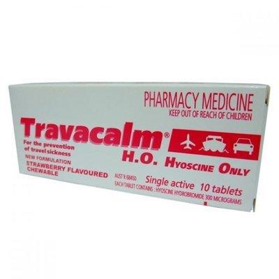 TRAVACALM TAB 10 HO STRAWBERRY