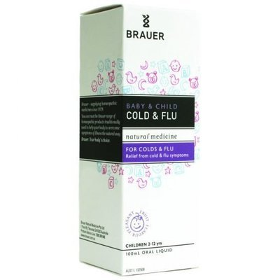 BRAUER CHILD COLD AND FLU RELIEF 100ML