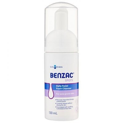 BENZAC DAILY FACE FOAM CLEANSER 130ML