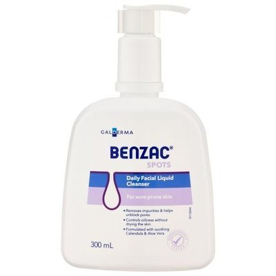 BENZAC DAILY FACE LIQ CLEANSER 300ML