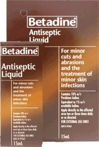 BETADINE ANTI-SEPTIC 15ML LIQUID