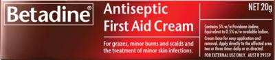 BETADINE ANTI SEPTIC  FIRST AID CREAM  20G