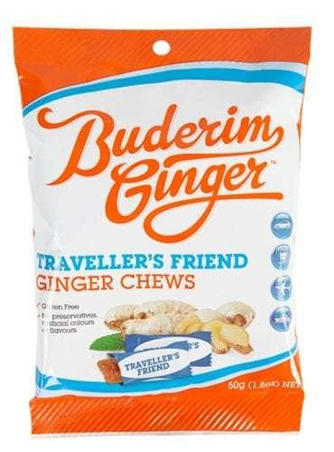 BUDERIM GINGER TRAVEL FRIEND CHEWS 50G