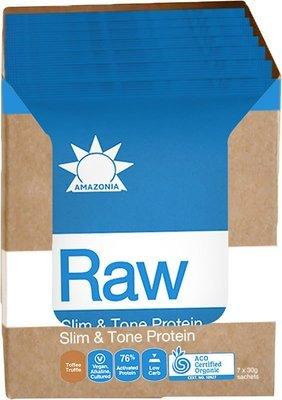 Amazonia RAW Slim & Tone Protein Toffee Truffle Sachet 7PK