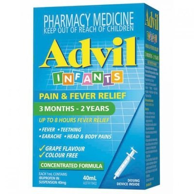 ADVIL INFANTS PAIN & FEVER DROPS 3 MONTHS - 2 YEARS 40ML