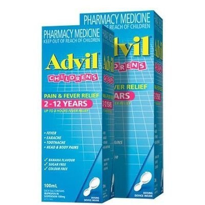 ADVIL CHILDREN'S 2-12 YRS SUSPENSION 100ML