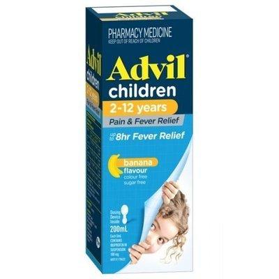ADVIL CHILDRENS 2-12YRS SUSPENSION 200ML