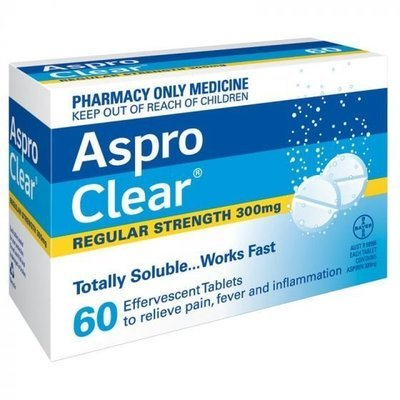 ASPRO CLEAR 60 TABS