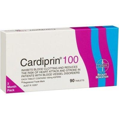 CARDIPRIN 100MG 90