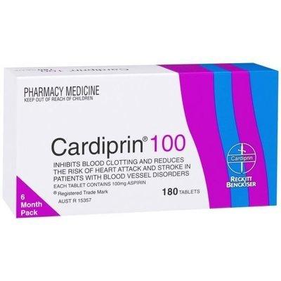 CARDIPRIN TAB 100MG 180
