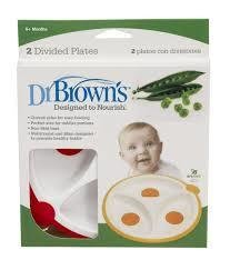 Dr Brown's Divided Plates 2pk