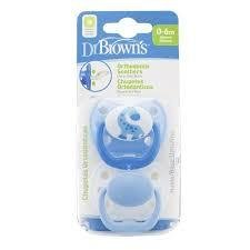 Dr Brown's Orthodontic Pacifier Stage 1 - 2pck