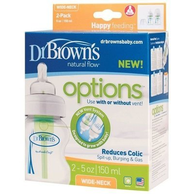 Dr Brown's Wide Neck bottle 150 ml DOUBLE Pack