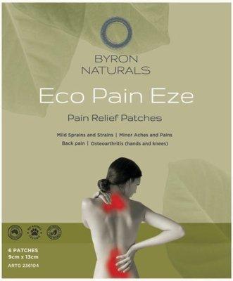 BYRON NATURALS ECO PAIN EZE PATCH 6