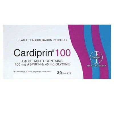 CARDIPRIN 100MG TABS  30