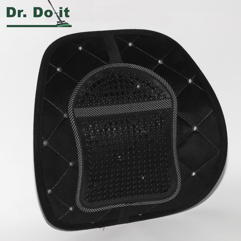 Dr. Do It Rückenstütze, Samt, schwarz, mit Massageauflage