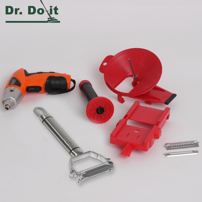 Multi-Slicer Set, rot mit Powertool