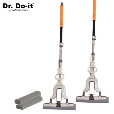 Dr. Do It Professional Wischmop inkl. Ersatzschwamm (2er Set)