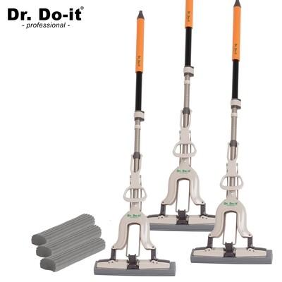 Dr. Do It Professional Wischmop inkl. Ersatzschwamm (3er Set)