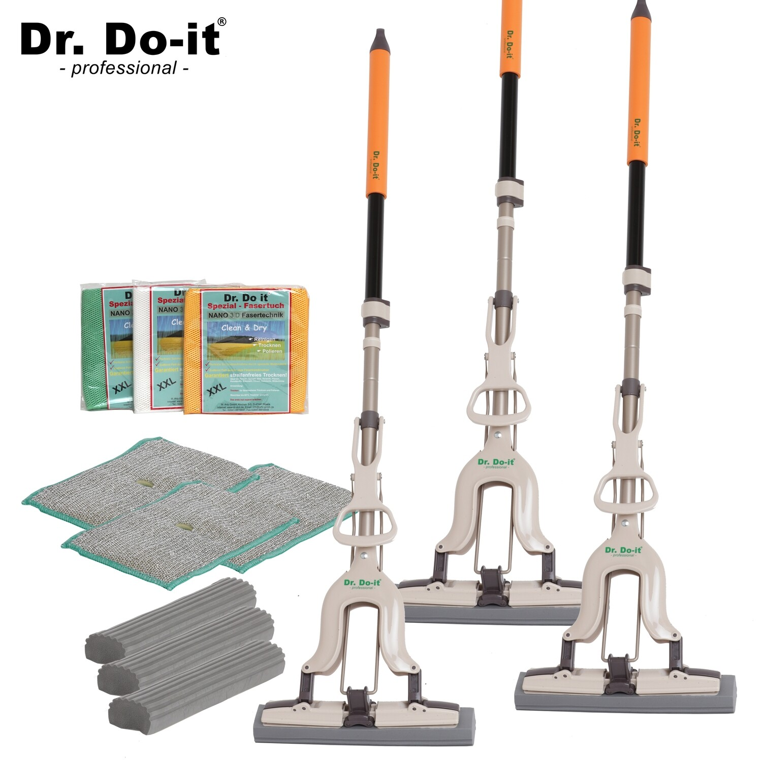 Dr. Do It Professional Wischmop, Sparset 3