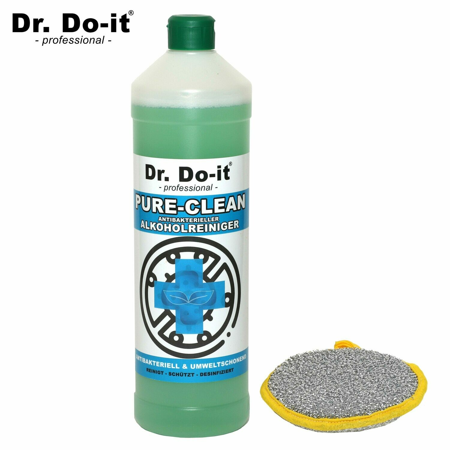 1x Dr. Do It Professional Alkoholreiniger (1Liter) & Gratis Clean-Pad