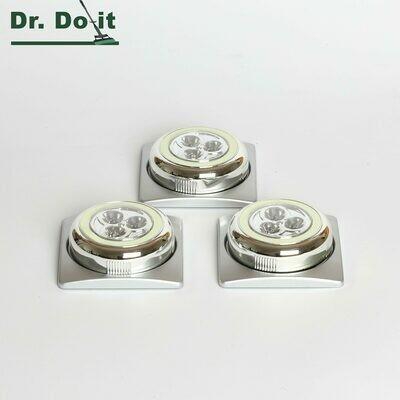 Dr. Do It LED-Spotlight, 3er Pack