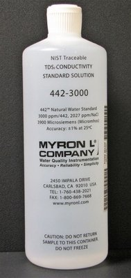 442-3000, Myron L Company 3000ppm, Calibration Solution, Quart