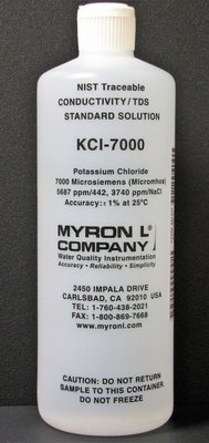 KCl-7000, Myron L Company 7000uS Calibration Solution, Quart