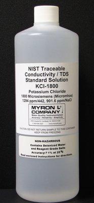 KCL-1800, Myron L Company 1800uS Calibration Solution, Quart