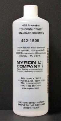 442-1500, Myron L Company 1500ppm, Calibration Solution, Quart