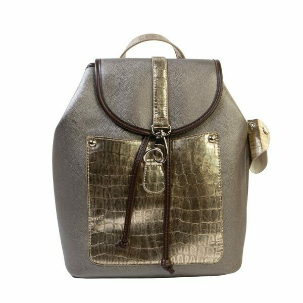 AURIELLE A603 PEWTER/GOLD BACKPACK 652494