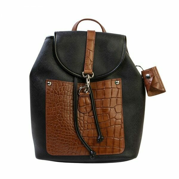 AURIELLE A603 BLACK/BROWN BACKPACK 652500