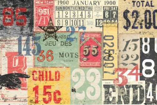 ROYCYCLED NUMBERED DECOLLAGE #43