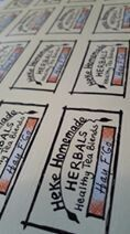 Labels (extras for jars) ONLY order with a Tea Order