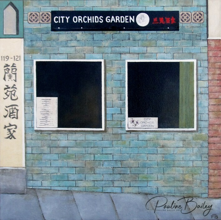 Original painting - City Orchids, Chinatown