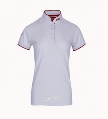 White women's polo shirt