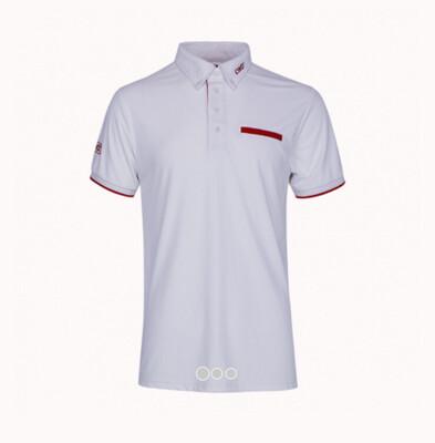 White men's polo shirt