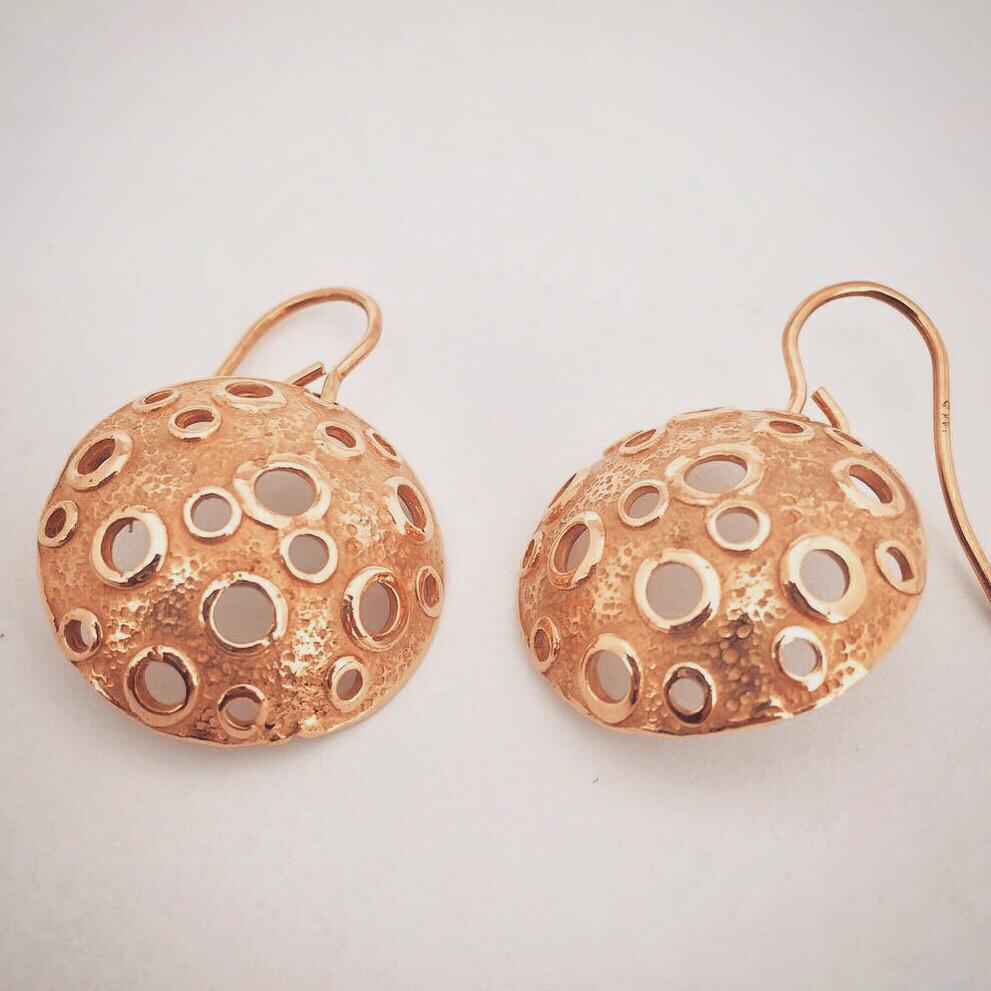 Bronze Moon Earrings