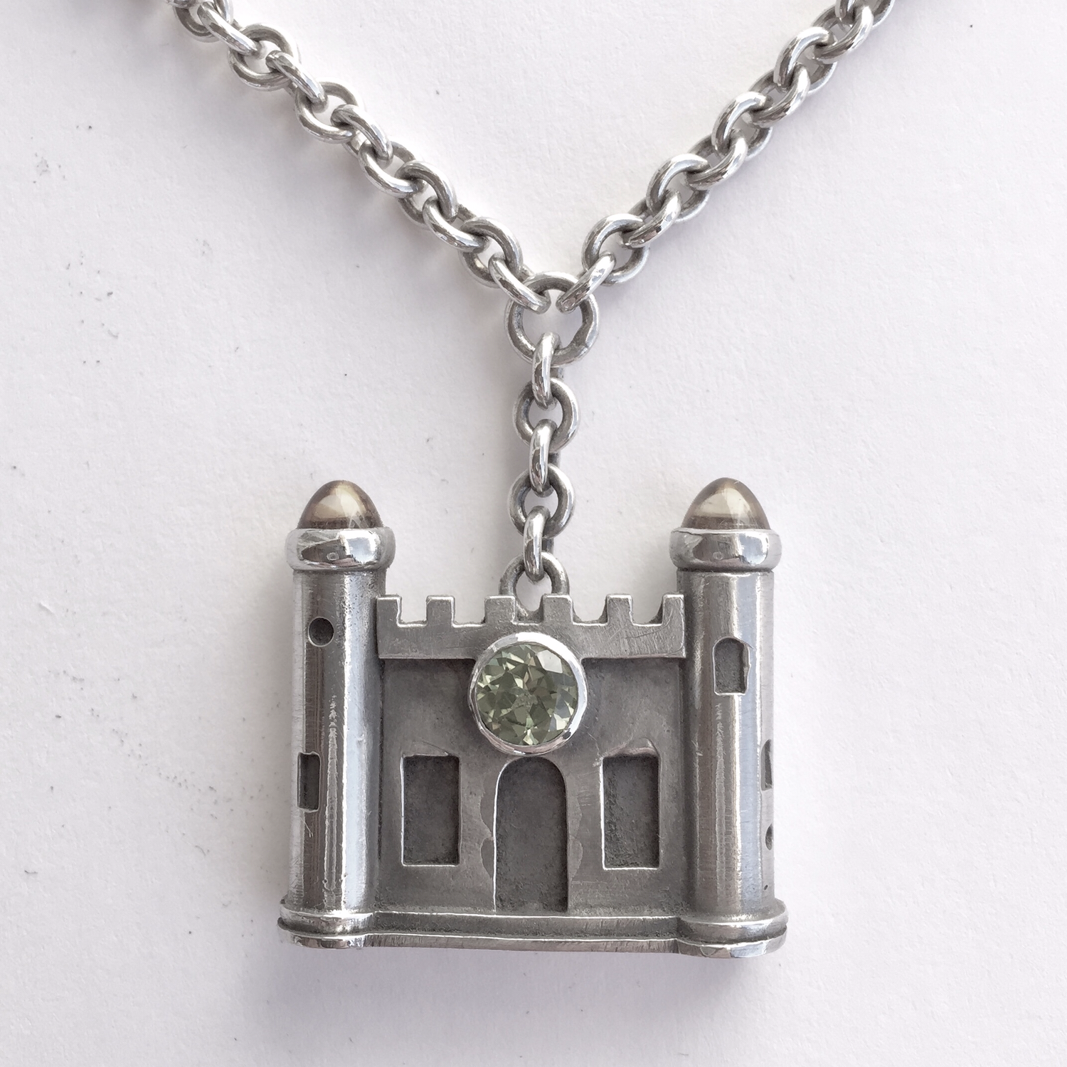 Architectural Series Castle Pendant with Citrine & Peridot
