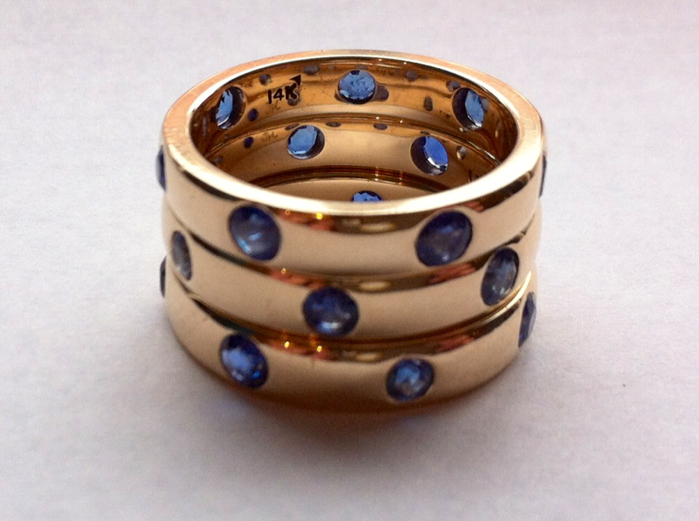 Sapphire Circle Bands